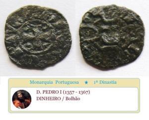 (A0102) D. PEDRO I - DINHEIRO (1357-1367) Bolhão … Dif. +++++ VENDIDA +++++
