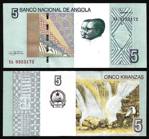 ANGOLA .n151A - 5 KWANZAS 'Agostinho Neto / José E. Santos' (2012) NOVA