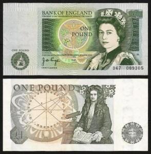 INGLATERRA .n377a (GREAT BRITAIN) - 1 LIBRA 'Elisabeth II / Isaac Newton' (1978/80) BELA +++++ VENDIDA +++++ 1