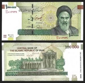 IRÃO .n151 (IRAN) - 100.000 RIALS 'Khomeini' (2010-) NOVA