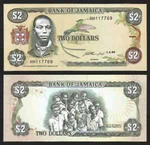 JAMAICA .n69 - 2 DOLLARS (1993) NOVA +++++ VENDIDA +++++ 1