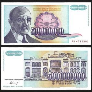 JUGOSLÁVIA .n134 (YUGOSLAVIA) - 500.000.000 DINARA (1993) CNOVA