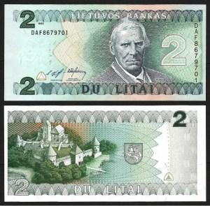 LITUÂNIA .n54 (LITHUANIA) - 2 LITAI (1993) NOVA