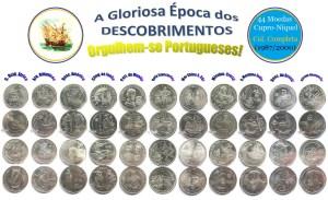 (Vsd12b) COL. COMPLETA dos DESCOBRIMENTOS - 11 SÉRIES (1987/2000) Cupro-Níquel