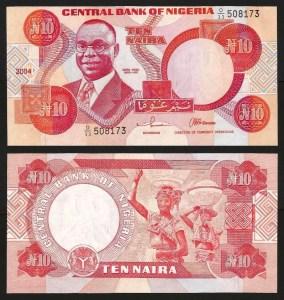 NIGÉRIA .n25 - 10 NAIRA (2004) NOVA 1