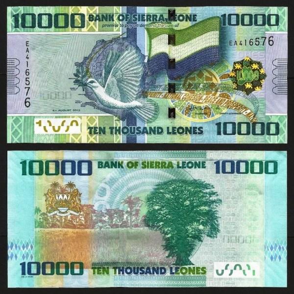 SERRA LEOA .n33 (SIERRA LEONE) - 10.000 LEONES (2013) NOVA 1