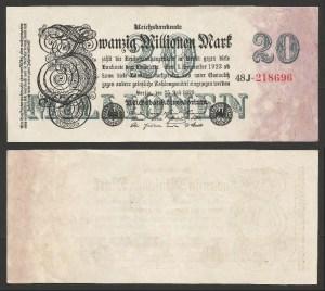 ALEMANHA .n97 (GERMANY) - 20 MILHÕES MARCOS (1923) QNOVA… Esc.