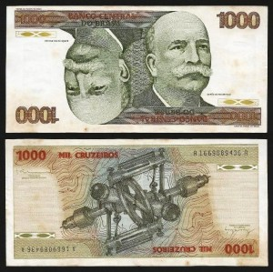 "BRASIL .n197b (BRAZIL) - 1.000 CRUZEIROS ""Cabeção"" (1979) CIRC... Dif."