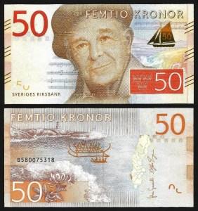 SUÉCIA .nv2 (SWEDEN) - 50 KRONOR (2015) NOVA