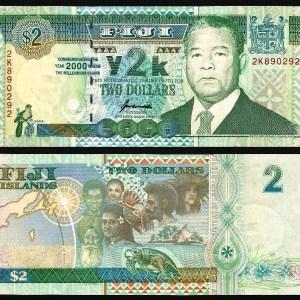 ILHAS FIJI .n102 (FIJI ISLANDS) - 2 DOLLARS CMM (2000) NOVA… Esc.