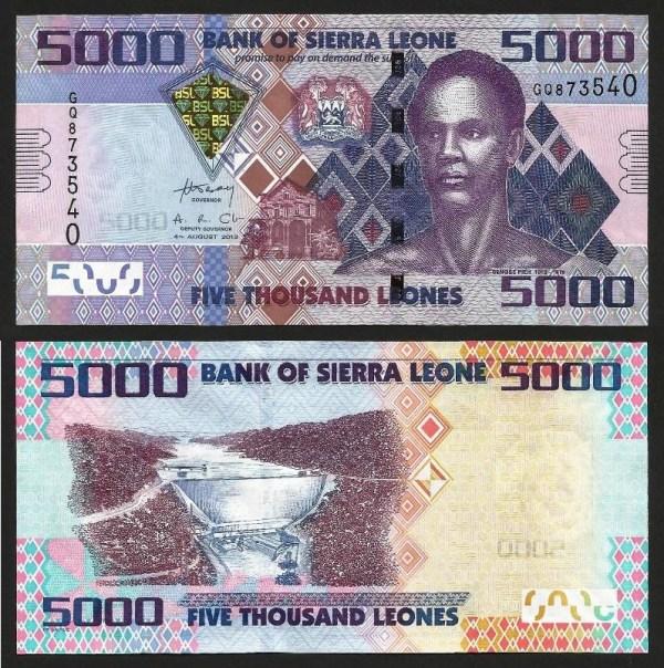 SERRA LEOA .n32b (SIERRA LEONE) - 5.000 LEONES (2013) NOVA