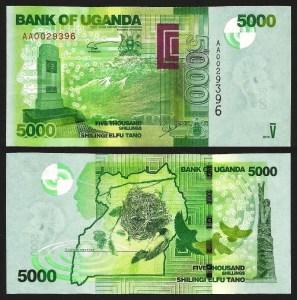 UGANDA .n51a - 5.000 SHILLINGS (2010) NOVA