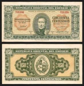 URUGUAI .n034 (URUGUAY) - 50 CENTÉSIMOS (Lei 1939) NOVA… Dif.