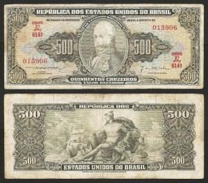 BRASIL .n172 (BRAZIL) - 500 CRUZEIROS (1961) CIRC… Esc.