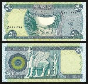 IRAQUE .n92 (IRAQ) - 500 DINARES (2004) NOVA
