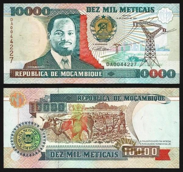 MOÇAMBIQUE .n137 (MOZAMBIQUE) - 10.000 METICAIS 'Joaquim Chissano' (1991) NOVA