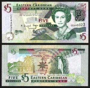ESTADOS DAS CARAÍBAS DO LESTE .n47 (EAST CARIBBEAN STATES) - 5 DOLLARS (2008-) NOVA