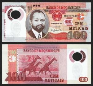 MOÇAMBIQUE .n151 (MOZAMBIQUE) - 100 METICAIS 'Samora Machel' (2011) NOVA +++++ VENDIDA +++++
