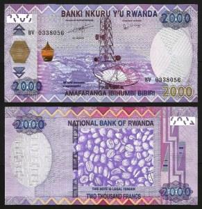 RUANDA .n40 (RWANDA) - 2.000 FRANCOS (2014) NOVA