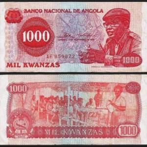 ANGOLA .n113x - 1.000 KWANZAS 'Agostinho Neto' (1976) CIRC…Esc.