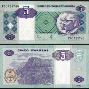 ANGOLA .n144a - 5 KWANZAS (1999) NOVA