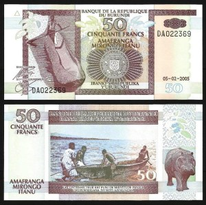 BURUNDI .n36e - 50 FRANCOS (2005) NOVA
