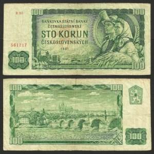 CHECOSLOVÁQUIA .n91b (CZECHOSLOVAKIA) - 100 KORUN (1961) CIRC…Dif.