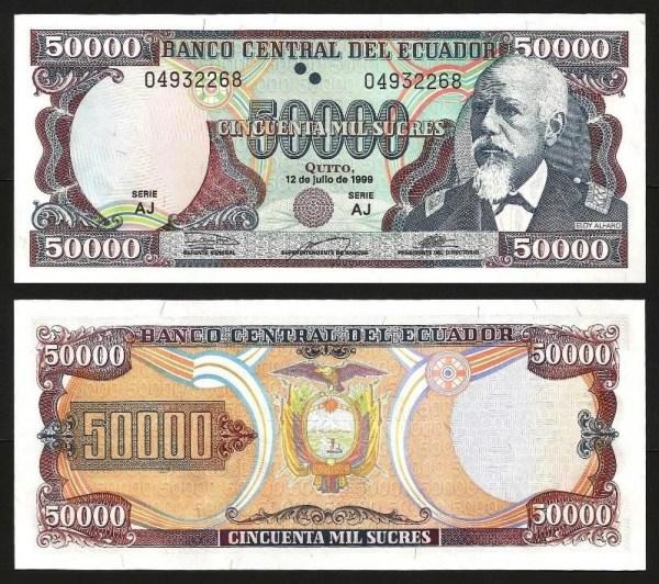 EQUADOR .n130 (ECUADOR) - 50.000 SUCRES (1999) NOVA