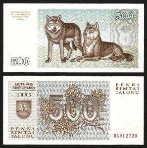 LITUÂNIA .n46 (LITHUANIA) - 500 TALONU (1993) NOVA