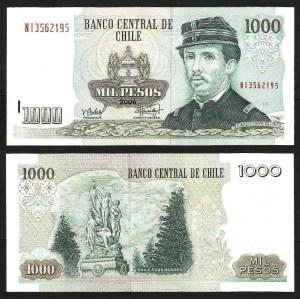 CHILE .n154g - 1.000 PESOS (2006) NOVA
