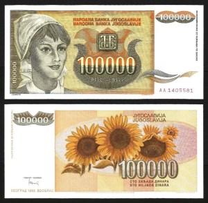 JUGOSLÁVIA .n118 (YUGOSLAVIA) - 100.000 DINARA (1993) NOVA… Esc.