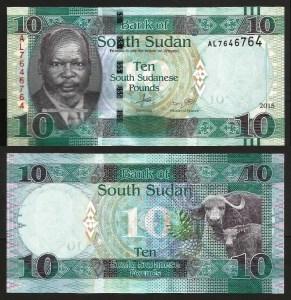SUDÃO DO SUL .n12a (SOUTH SUDAN) - 10 LIBRAS (2015) NOVA