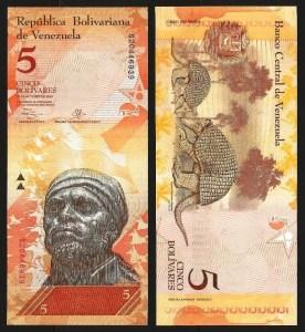 VENEZUELA .n89e - 5 BOLÍVARES (29.10.2013) NOVA