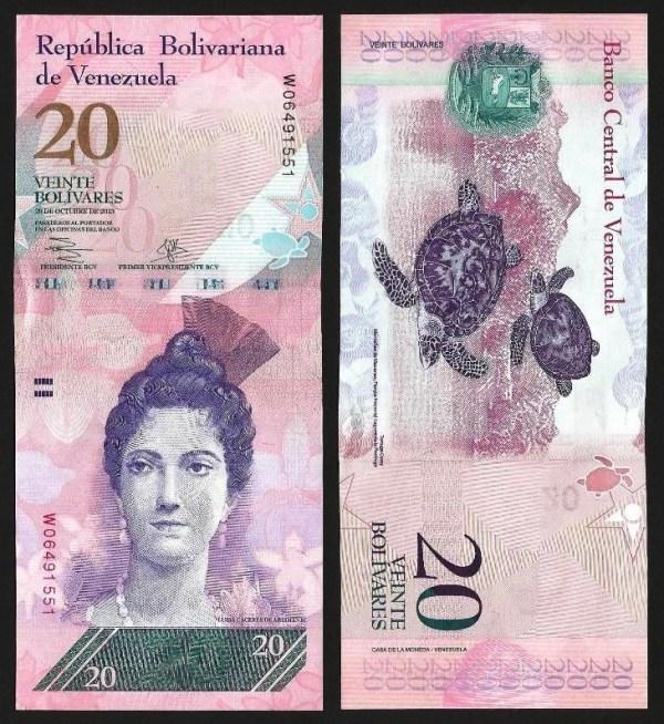 VENEZUELA .n91f - 20 BOLÍVARES (29.10.2013) NOVA