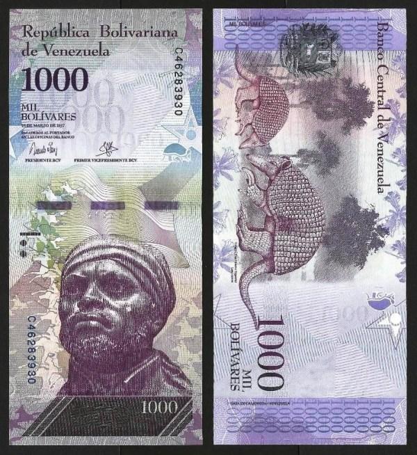 VENEZUELA .n95b - 1.000 BOLÍVARES (23.03.2017) NOVA