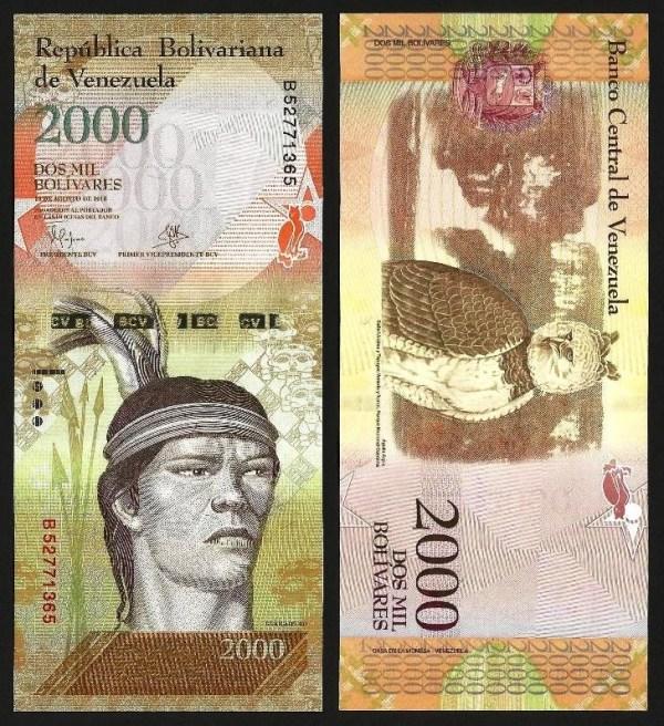VENEZUELA .n96a - 2.000 BOLÍVARES (18.08.2016) NOVA