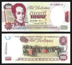 VENEZUELA .n076c - 1.000 BOLÍVARES (05.02.1998) NOVA