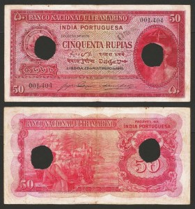 ÍNDIA PORTUGUESA (17) - 50 RUPIAS 'Afonso Albuquerque' (1945) CIRC… Esc.