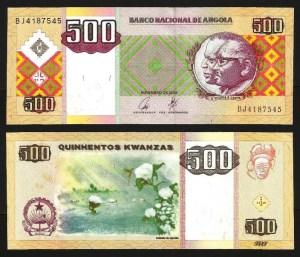 ANGOLA .n149 - 500 KWANZAS 'Agostinho Neto / José E. Santos' (2003) CNOVA... Dif.