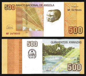 ANGOLA .n155b - 500 KWANZAS 'Agostinho Neto / José E. Santos' (2012/17) NOVA