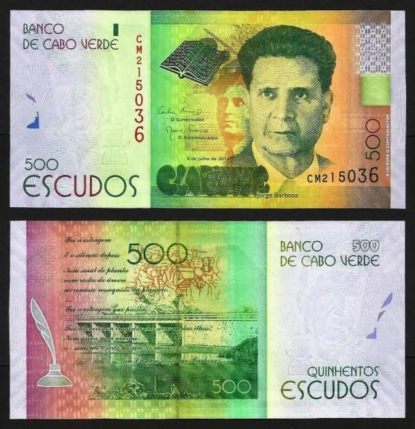 CABO VERDE .n72 (CAPE VERDE) - 500 ESCUDOS 'Jorge Barbosa' (2014) NOVA