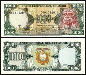 EQUADOR .n125a (ECUADOR) - 1.000 SUCRES (29.09.1986) NOVA… Esc