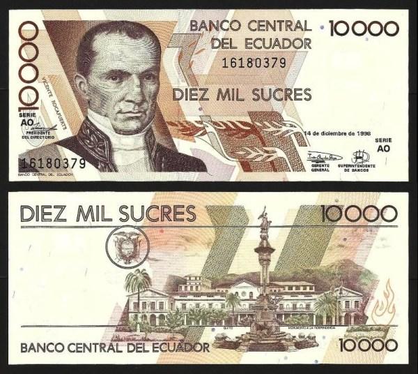 EQUADOR .n128y1 (ECUADOR) - 10.000 SUCRES (14.12.1998) NOVA