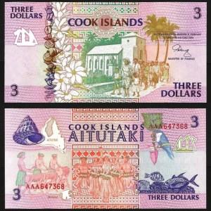 ILHAS COOK .n03 (COOK ISLANDS) - 3 DOLLARS (1987) NOVA +++++ VENDIDA +++++
