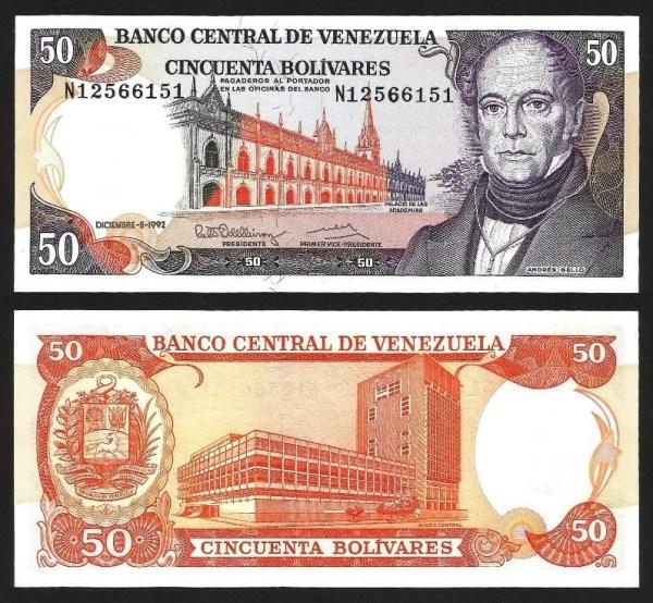 VENEZUELA .n065d - 50 BOLÍVARES (1992) NOVA