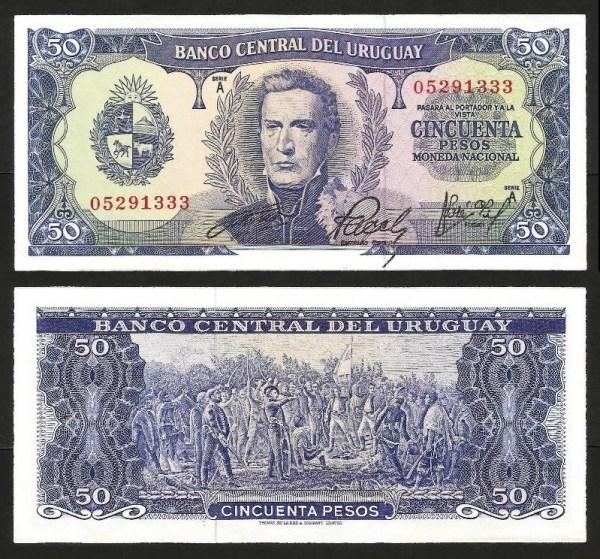 URUGUAI .n046a (URUGUAY) - 50 PESOS (1967) QNOVA