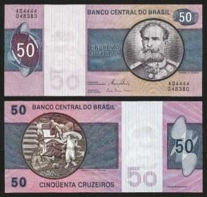 BRASIL .n194c (BRAZIL) - 50 CRUZEIROS (1970/80) NOVA … Esc.