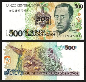 BRASIL .n226 (BRAZIL) - 500 CRUZEIROS S/ 500 CRUZADOS NOVOS (1990) QNOVA