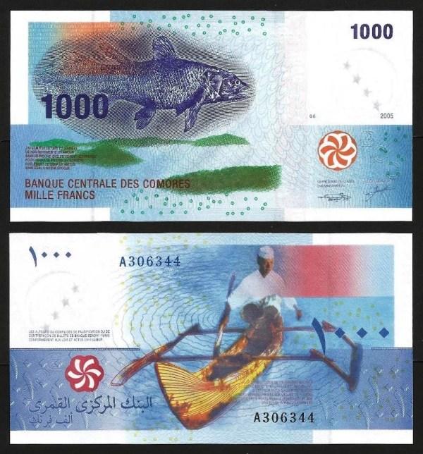 COMORES .n16a (COMOROS) - 1.000 FRANCOS (2005) NOVA… Esc.