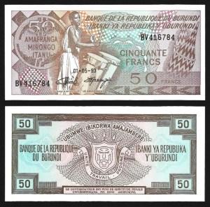 BURUNDI .n28c - 50 FRANCOS (1993) NOVA… Esc.
